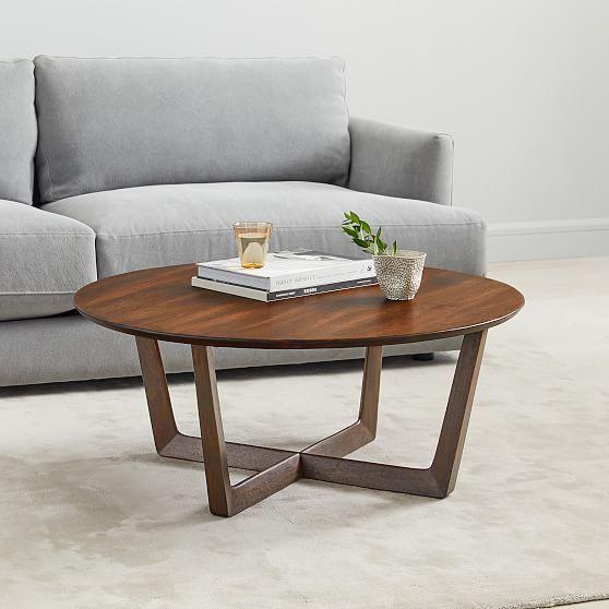 stowe coffee table dark walnut products pedestal coffee table rh pinterest com