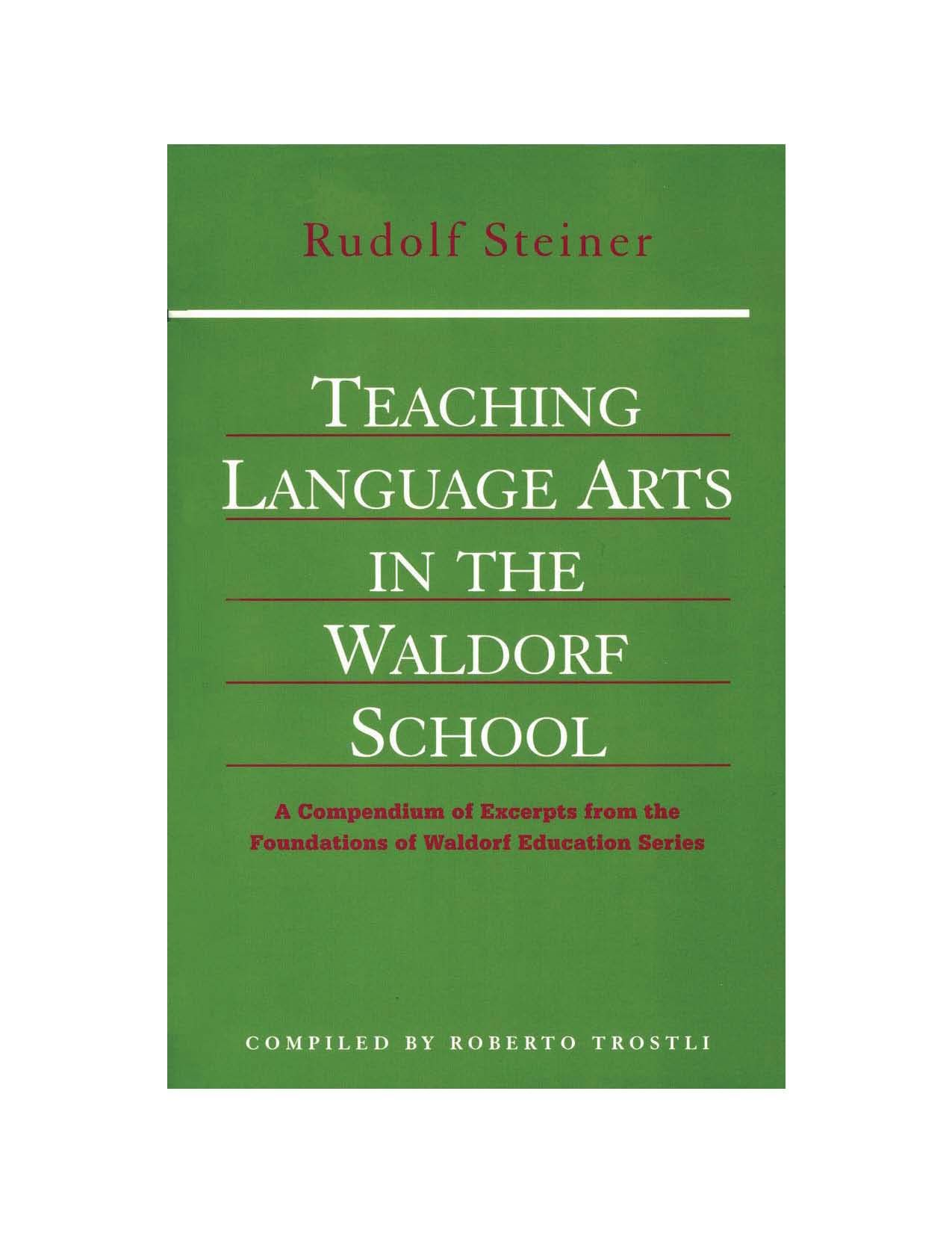 Teaching English -language Arts Free Ebook Waldorf