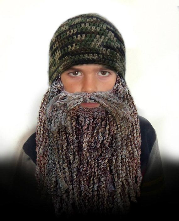 Duck Dynasty Hat And Beard Crochet Pattern Easy 7 Sizes