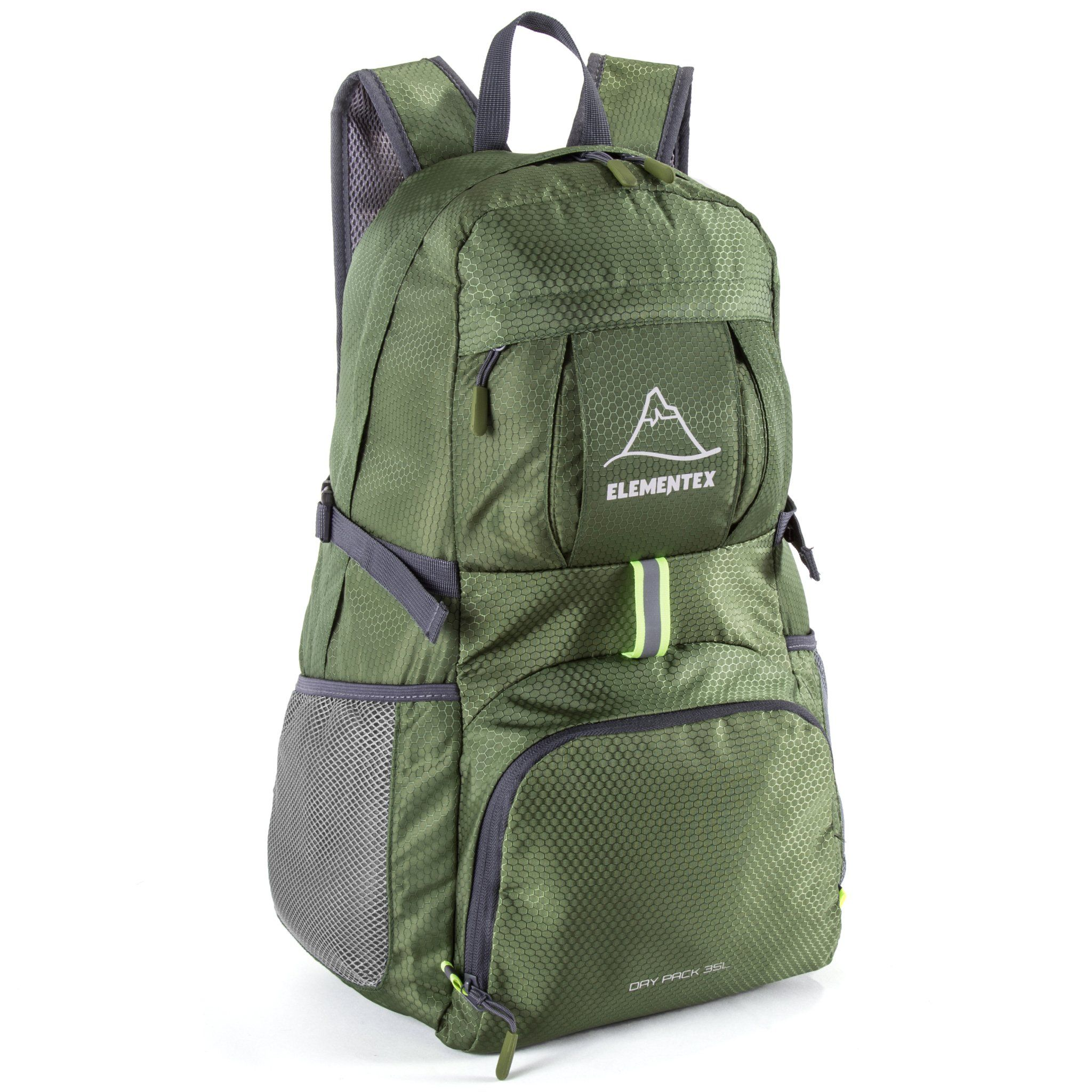 a46c697e8b ELEMENTEX Foldable Hiking Backpack - Green. Package Includes  1 - Foldable  Lightweight Travel Backpack