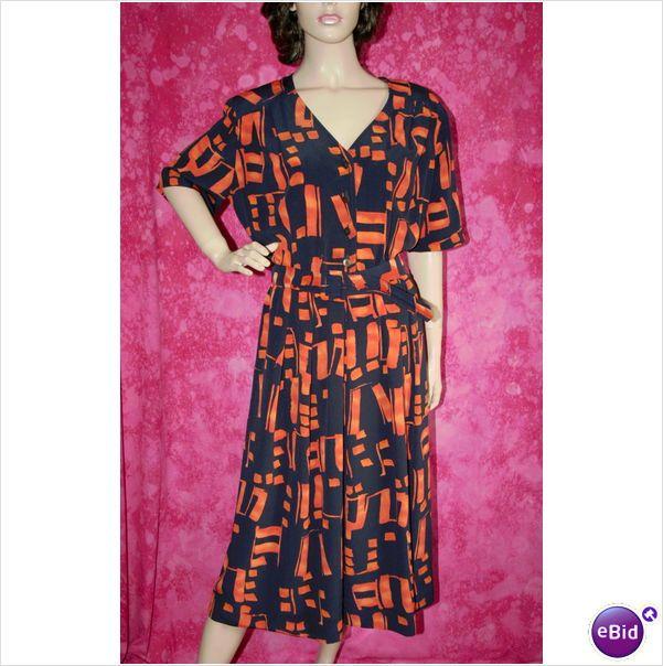 Vintage 1970 Designer Orange Navy Dress Belt Size 16 Mandy Marsh on eBid United Kingdom