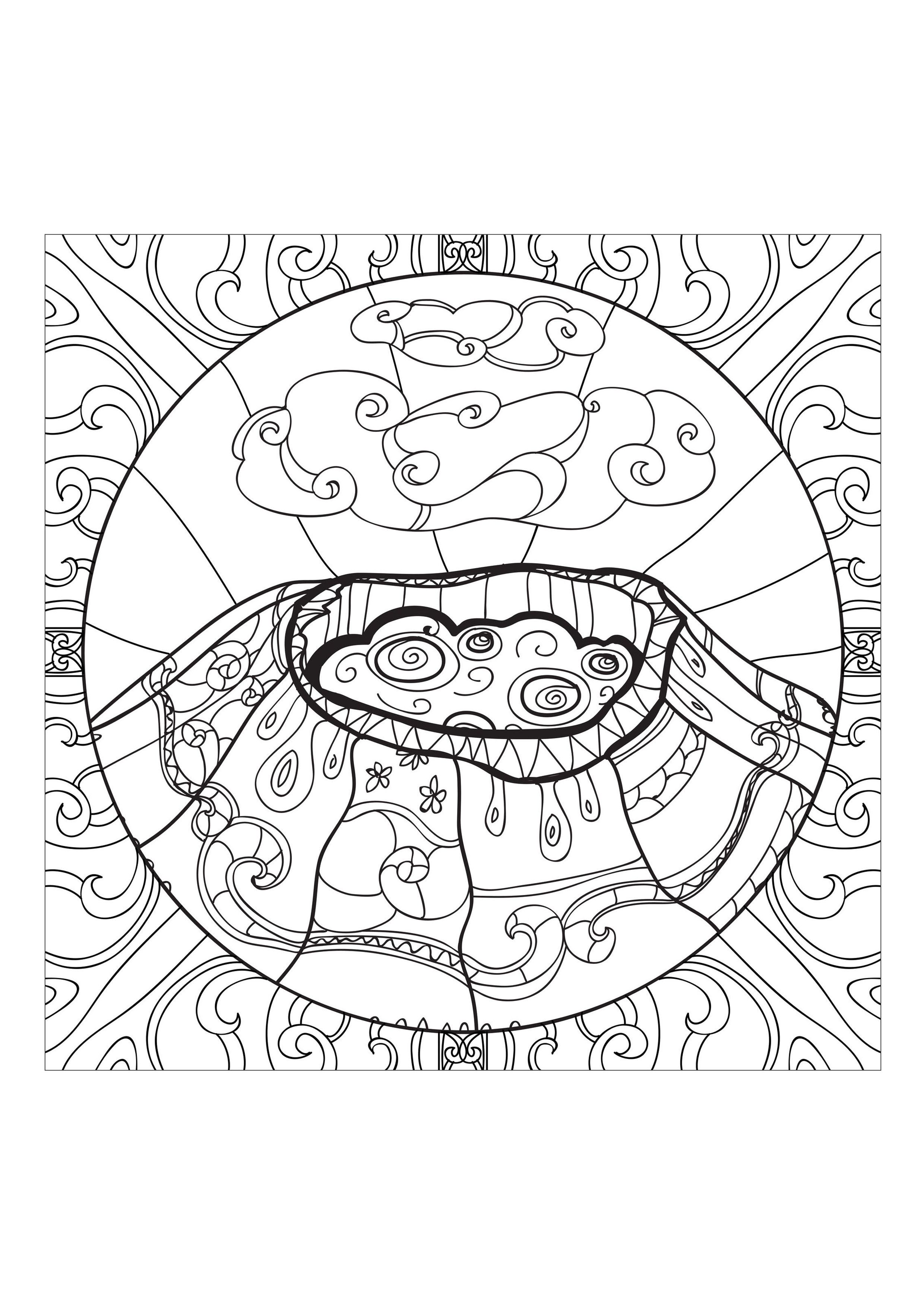 coloring-page-adults-volcano-1, From the gallery : Zen & Anti Stress ...