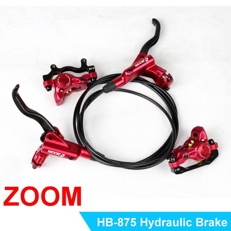 ZOOM HB875 MTB Mountain Bike Cycling Hydraulic Disc Brakes Levers Front Rear Set