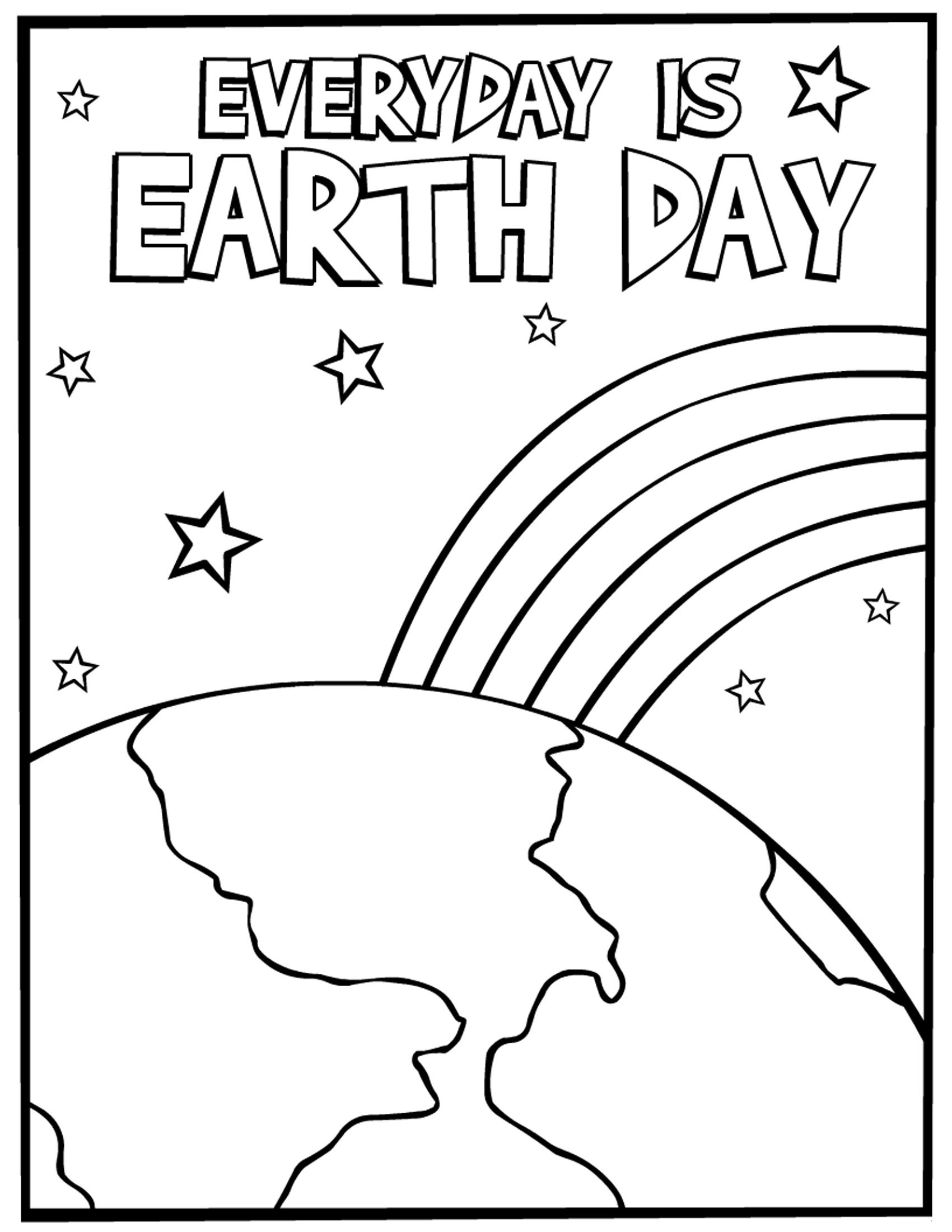 Earth Day Coloring Pages Free Download
