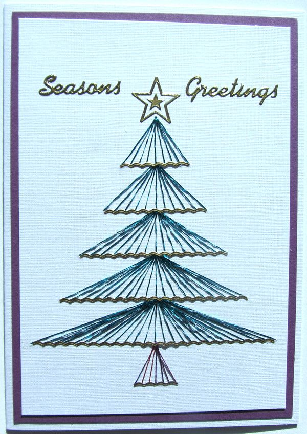 Christmas tree stiching card inspired by Cardonnay class