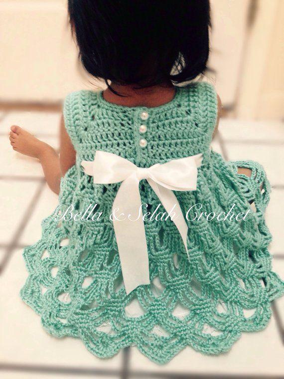 9a5d54846407 Crochet Party dress for little girl