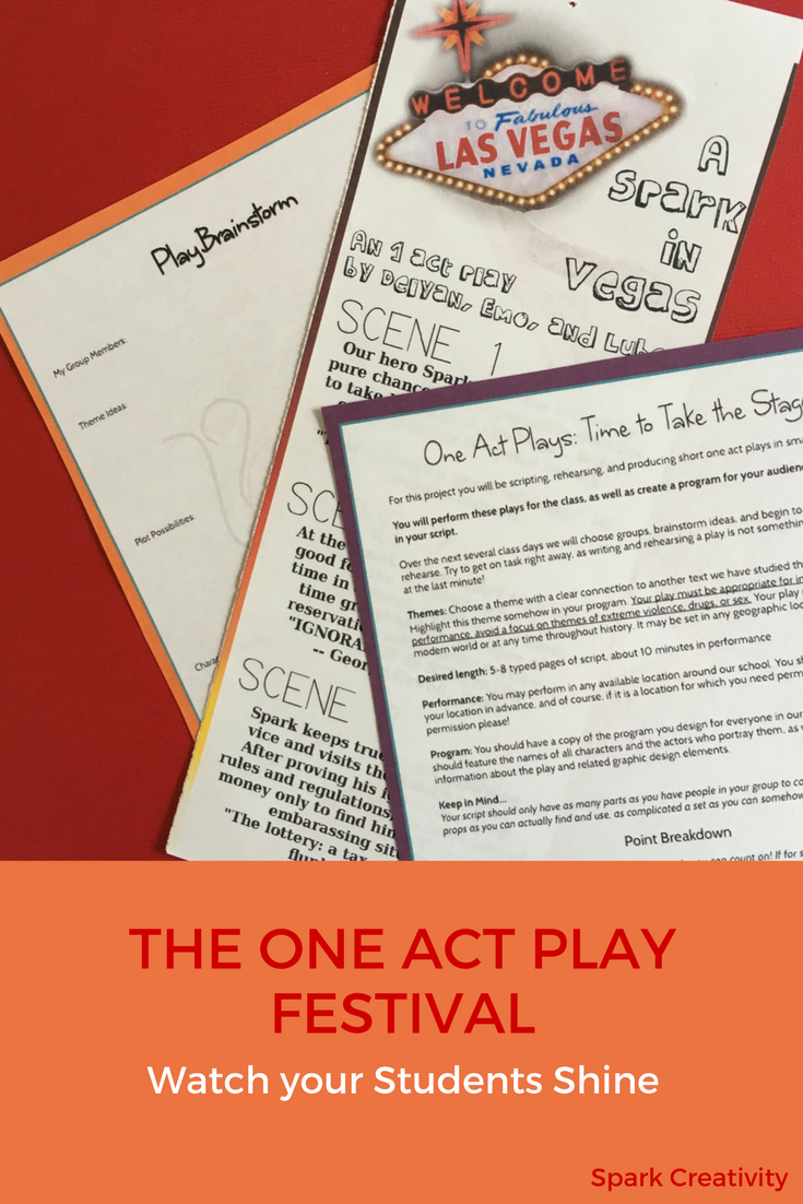 one-act play project | spark creativity: ela resources | pinterest