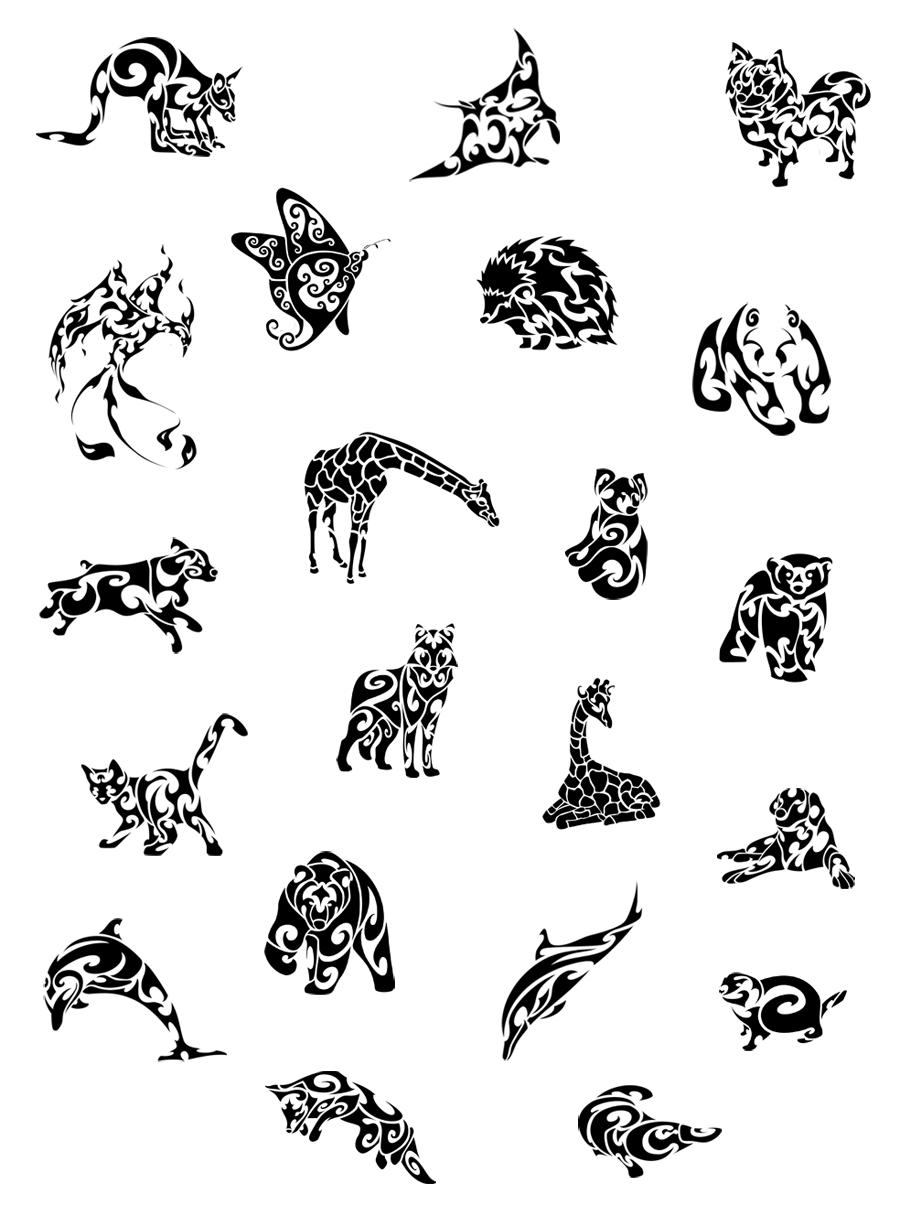 tattoo vorlagen 60 kostenlose tiermotive tattoovorlagen tribal animals tribal animal. Black Bedroom Furniture Sets. Home Design Ideas