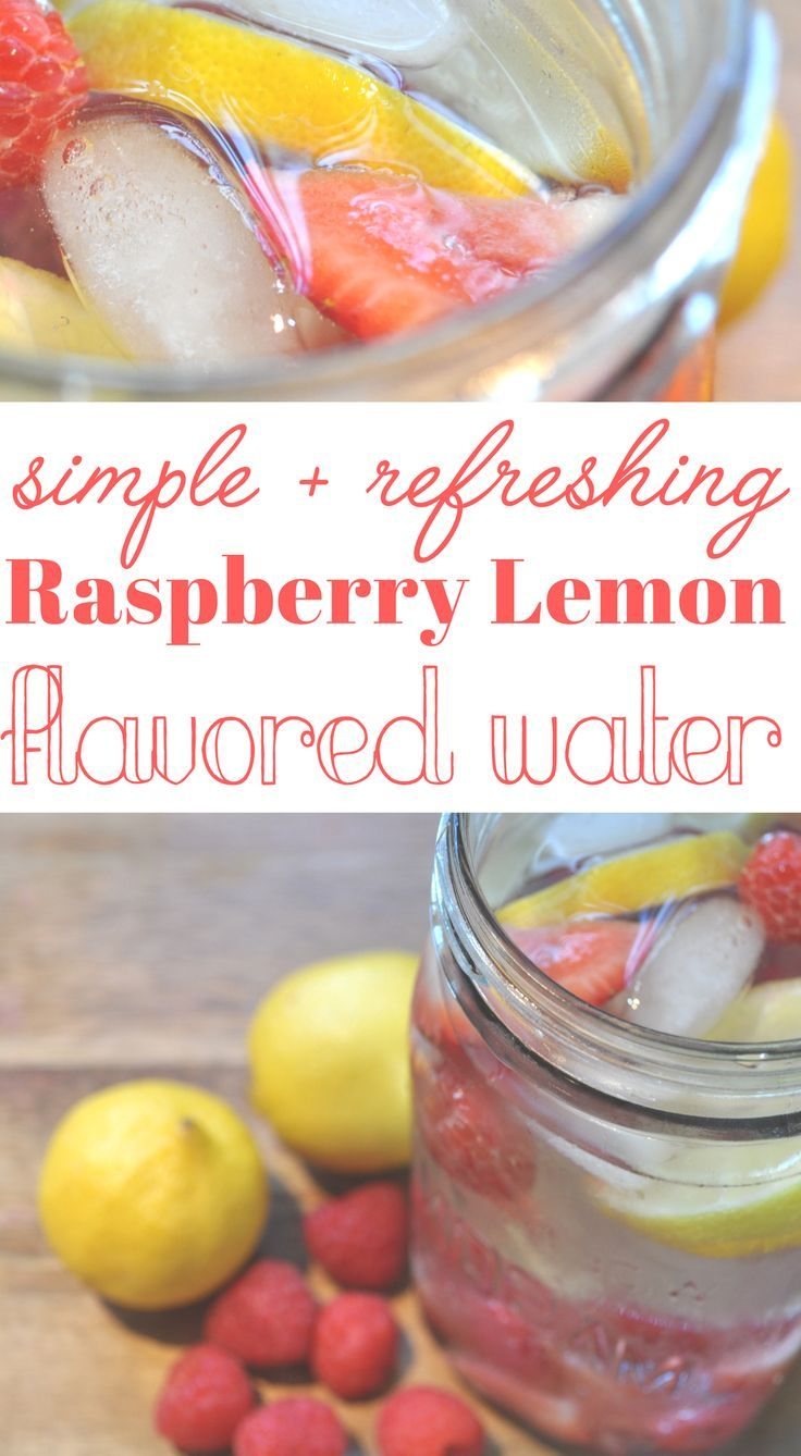 Raspberry-lemon water. Refreshing beverage. Great alternative to soda.