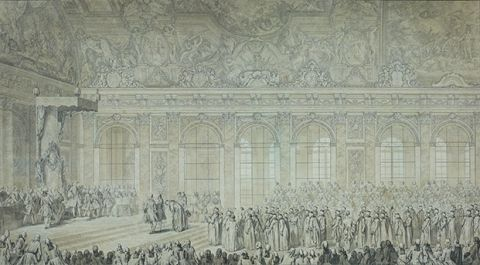 Reception of the Turkish ambassador in the Hall of Mirrors on 11 January 1724