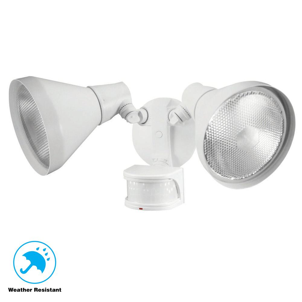 Defiant 110 Degree White Motion Sensing Outdoor Security
