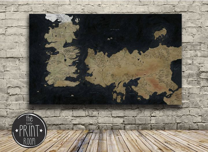 Westeros Map Game Of Thrones Box Framed Canvas Art Print | Pinterest ...