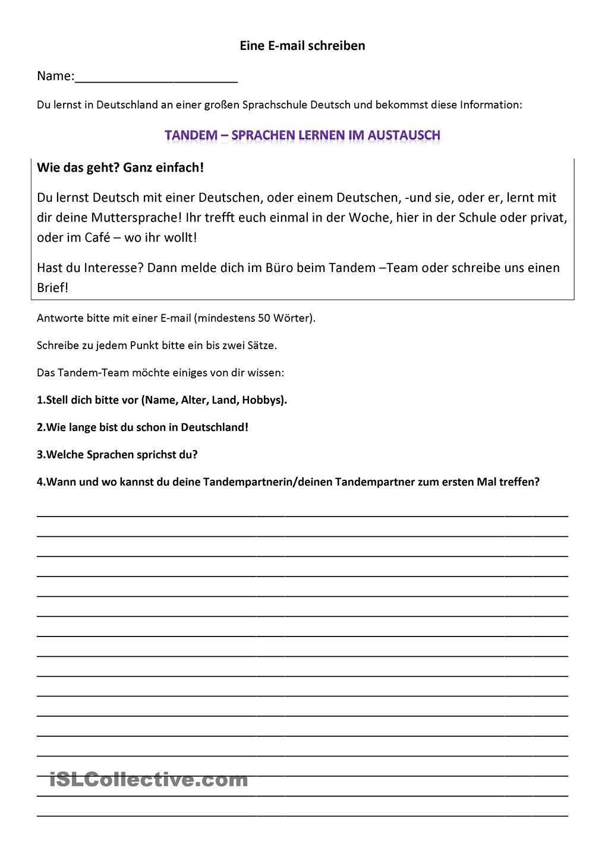 Persönliche Briefe Beispiele : Pin von carmen perez de la cruz auf german brief email
