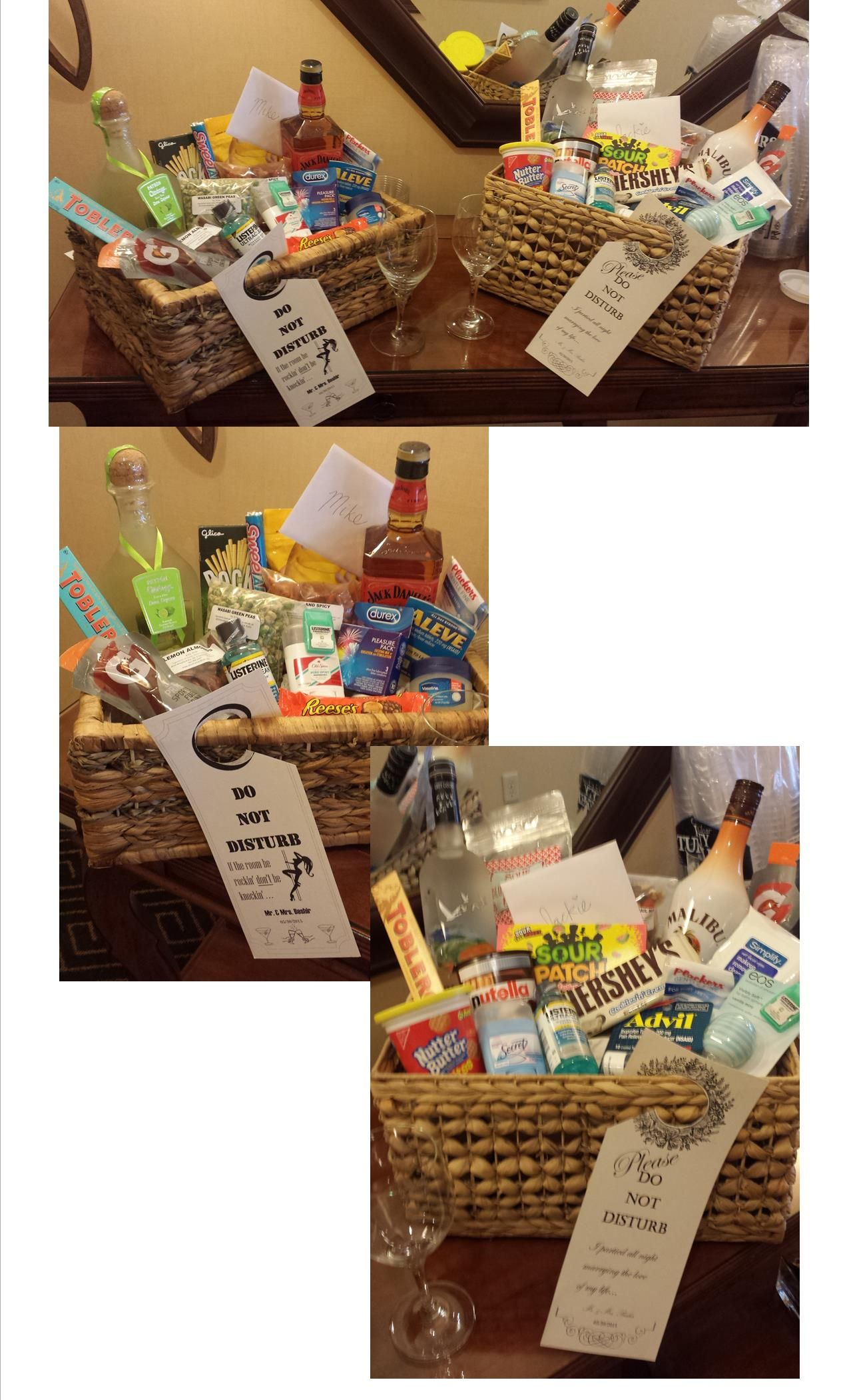 His Hers Wedding Night Baskets Weddings Honeymoon Gifts Made By