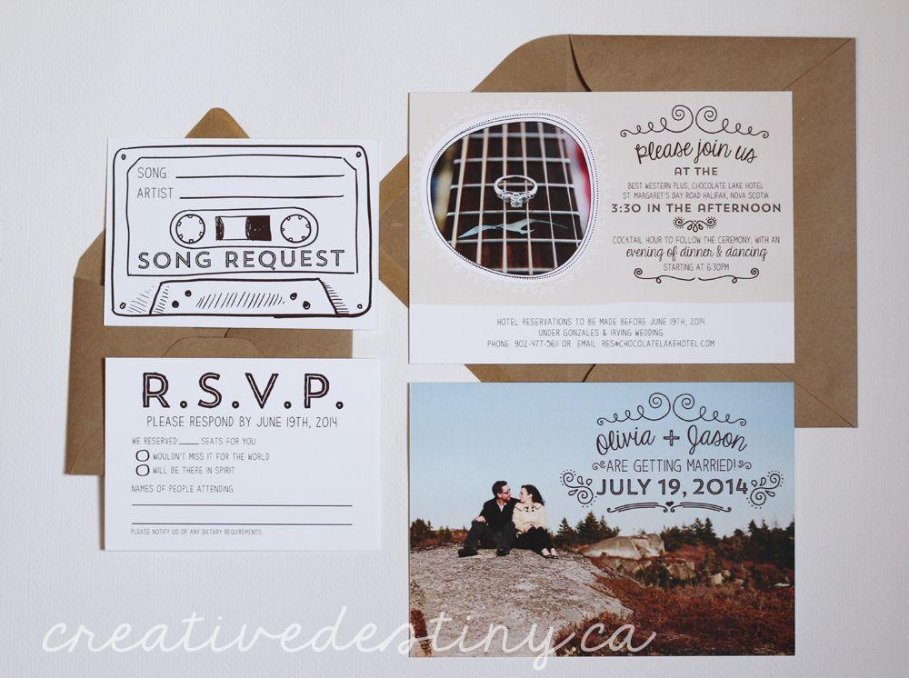 wedding invitations, kraft paper envelopes, engagement photos, song - best of invitation name designs