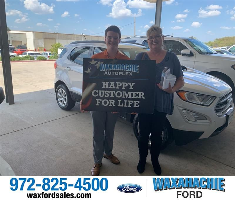 Congratulations Patricia On Your Ford Ecosport From Ethan Romney
