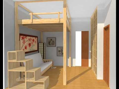 SMALL APARTMENT IDEAS - LOFT BED - YouTube | Sonhando alto ...