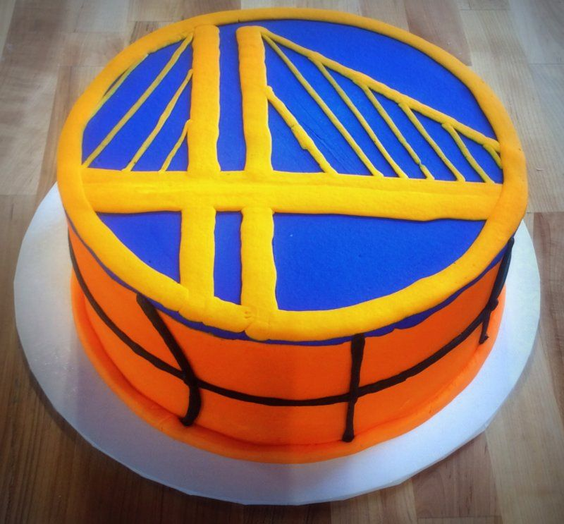 Golden State Warriors Basketball Court Birthday Cake