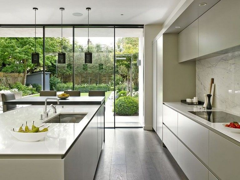 133 amazing modern glass wall interior design ideas luxury kitchens modern kitchen small on kitchen interior with window id=92321