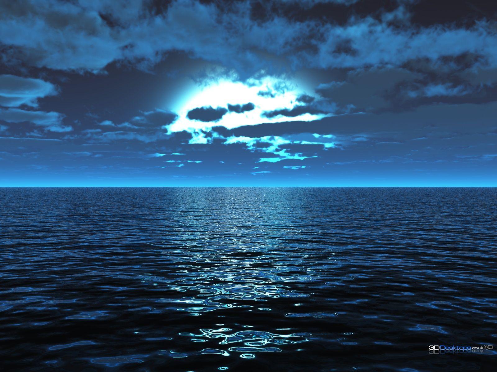 3d Wallpaper Sub Result 24 Ocean Wallpaper Ocean At Night Beach Wallpaper