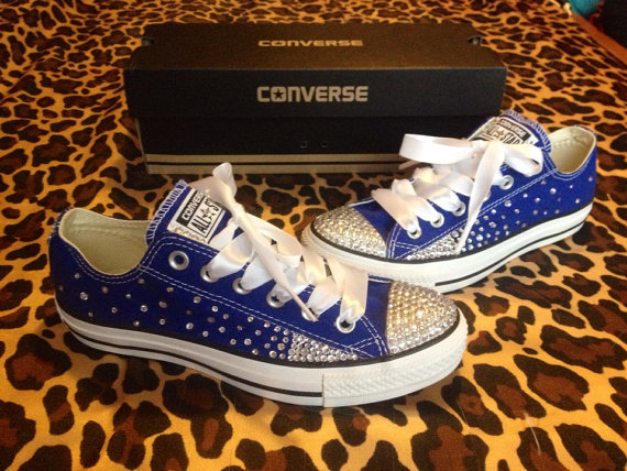 85dc4c411509 Full Rhinestone Converse with Ombré Sides by ConverseCustomized ...