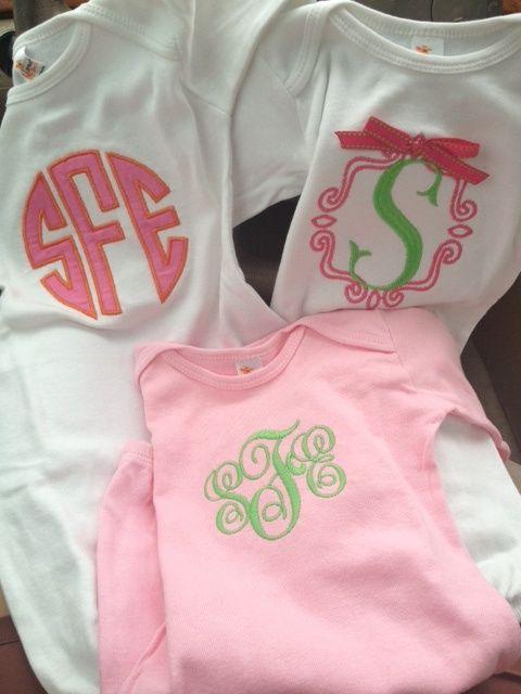 Monogrammed Baby Girl Gowns | Adalyn Renee | Pinterest | Baby girl ...