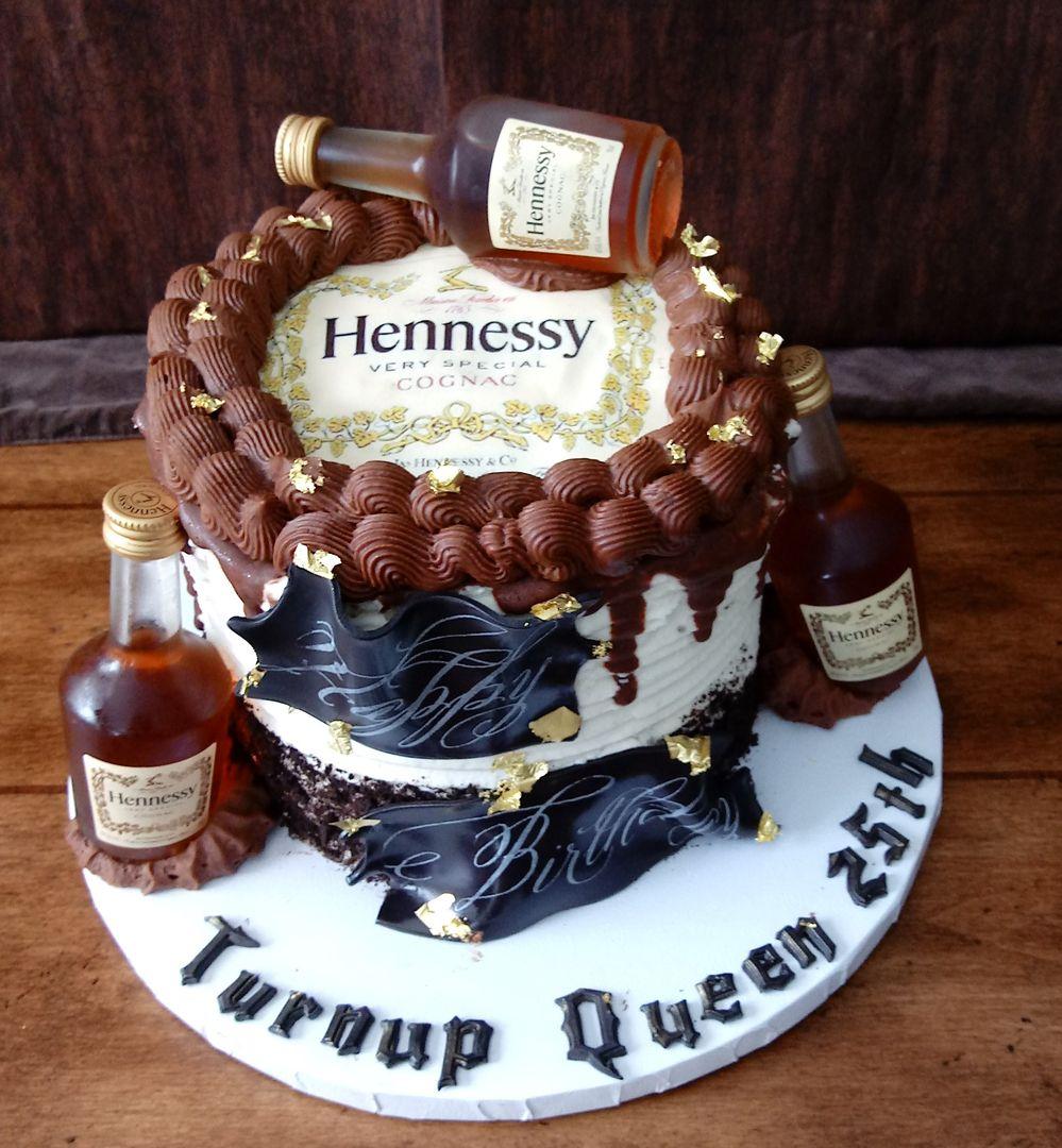 Hennessy birthday cake. in