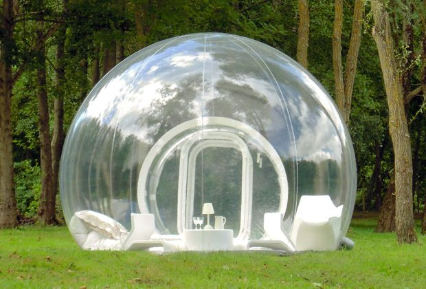 Life in a bubble! Casa Bubble makes these bubble structures so you can enjoy the great outdoors with modern day luxury. #dod2012