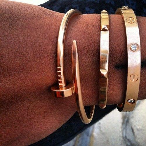 """Cartier """"Love"""" Bracelet - """"Juste un clou"""" Bracelet   @Chelsea Stewart What is on YOUR Christmas list??????"""