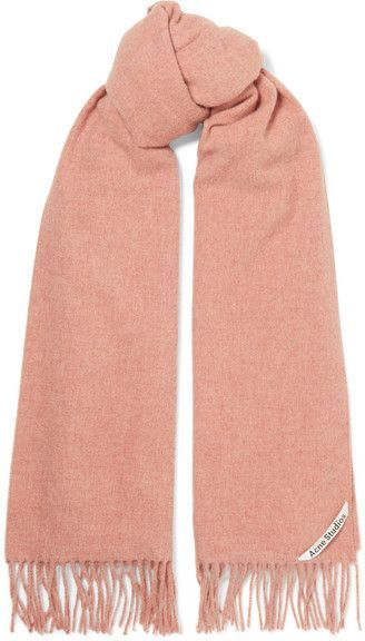 ddc7505a553 Acne Studios - Canada Fringed Wool Scarf - Antique rose | WOMEN'S ...