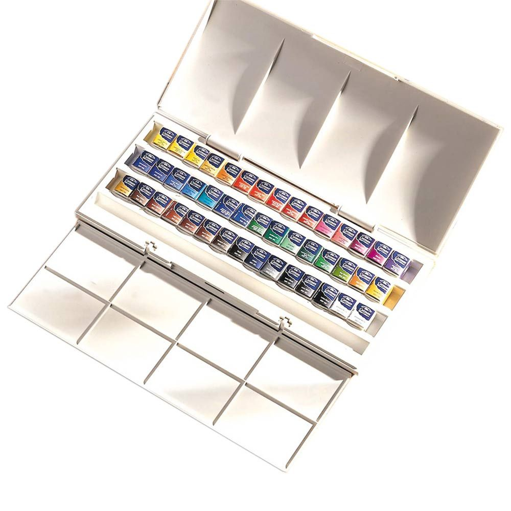 Cotman Studio 45 Half Pan Set Winsor Newton Watercolor