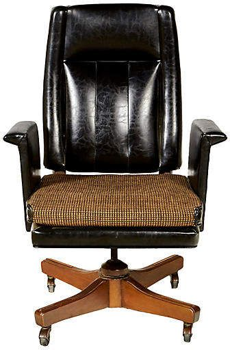 2 B Modern 1960s High Back Desk Chair By Boling