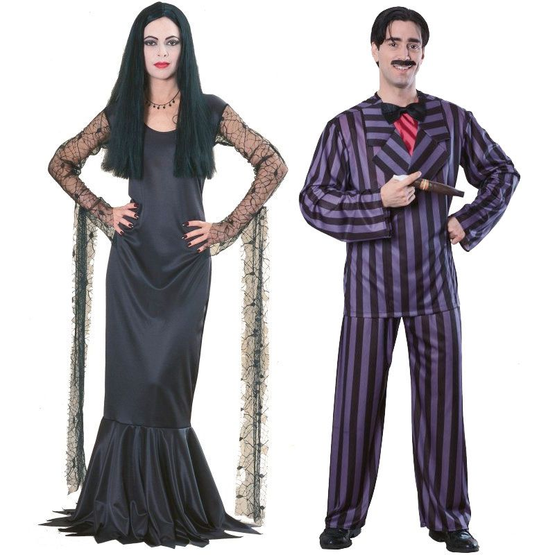 Couple cosplay ex&le / detail in the dress pinstripe suit and cane // addams family costumes | The happy and macabre couple of the Addams famu2026  sc 1 st  Pinterest & Couple cosplay example / detail in the dress pinstripe suit and cane ...