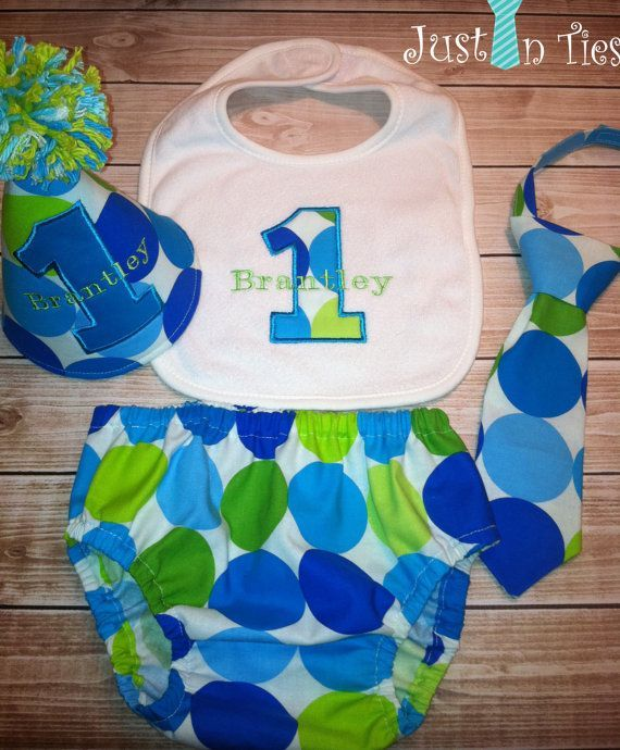 baby boy 1st birthday party ideas Baby Boy Polka Dot Cake Smash