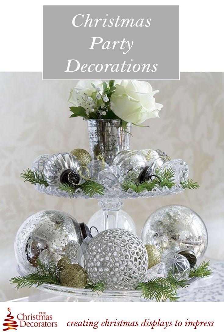 The Christmas Decorators Nottingham Derby Burton Upon Trent Elegant Christmas Centerpieces Christmas Table Decorations Silver Christmas