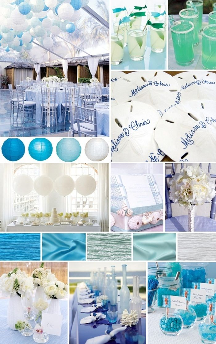 Bridal shower theme beach beach themed wedding for Beach themed mural