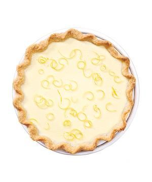 Lemon Cheesecake Pie recipe: This pie couldn't be easier: Combine all ingredients together in a food processor, pour into the piecrust, and bake.
