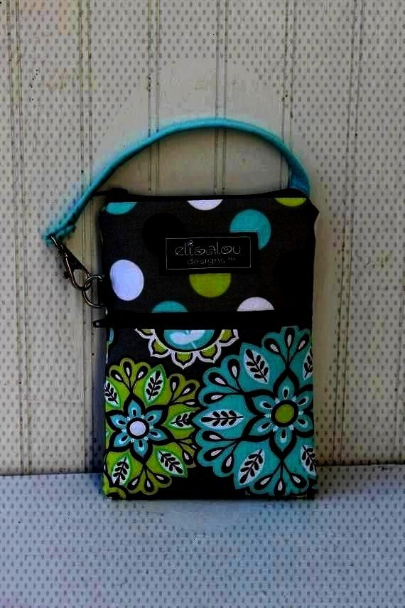 2 Pocket Padded Gadget, iPhone6, iPhone 6 Plus, iPod, cellphone, Samsun... Dot and Harvest Bloom 2