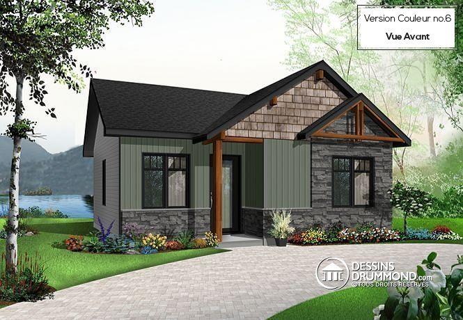 Détail du plan de Maison unifamiliale W3128 дом Pinterest - maison contemporaine plan gratuit