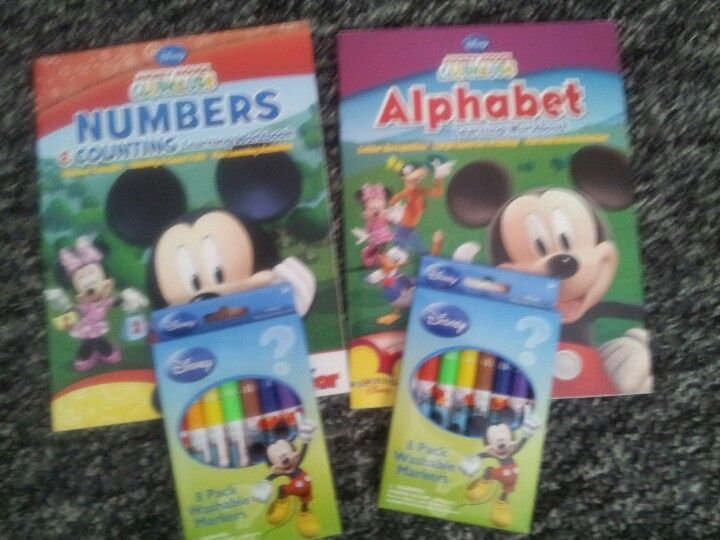 Goody bag stuff...learning books.. Letters .. Numbers...mm