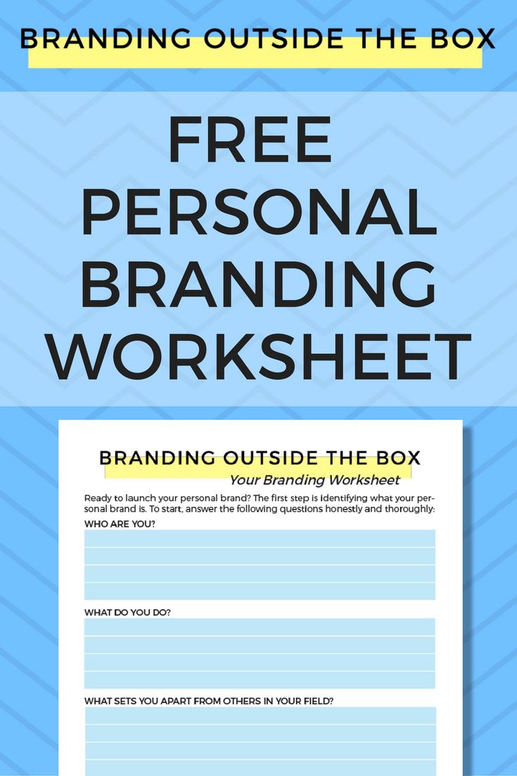 Personal Branding Worksheet Choice Image - worksheet math for kids