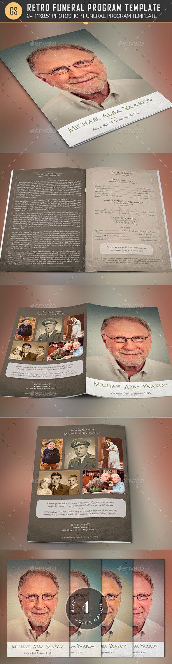 Nostalgia Funeral Program Template  Brochures Brochure Template