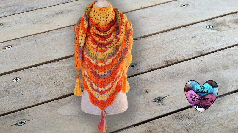 Châle Automne Crochet Diy Lidia Crochet Tricot Crochet