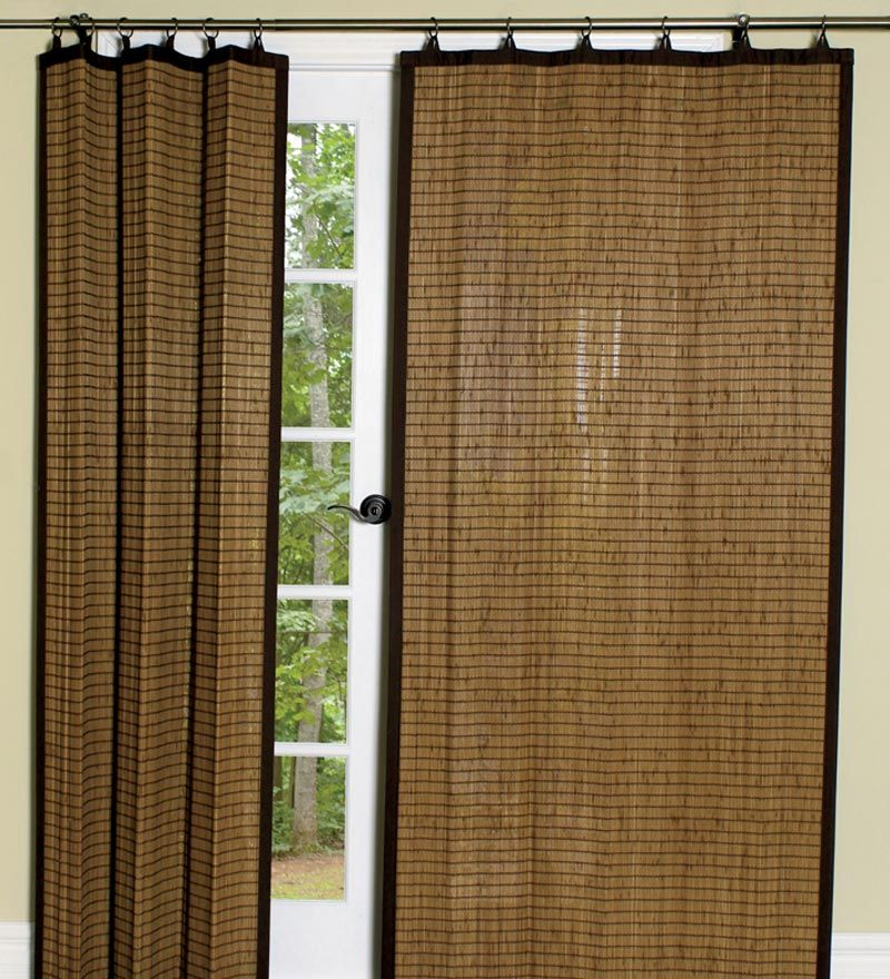 24 L Easy Glide Bamboo Tiers Pair Collection Accessories Bamboo Curtains Bamboo Shades Patio Door Coverings