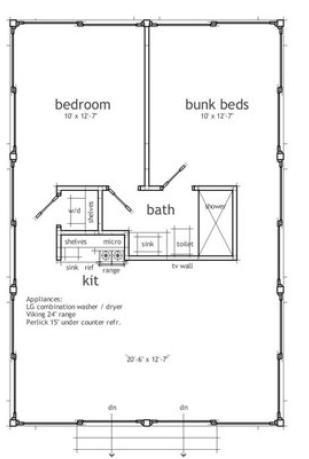 Plano de casa 65 2 planos para casas pinterest for Casa 50 metros cuadrados