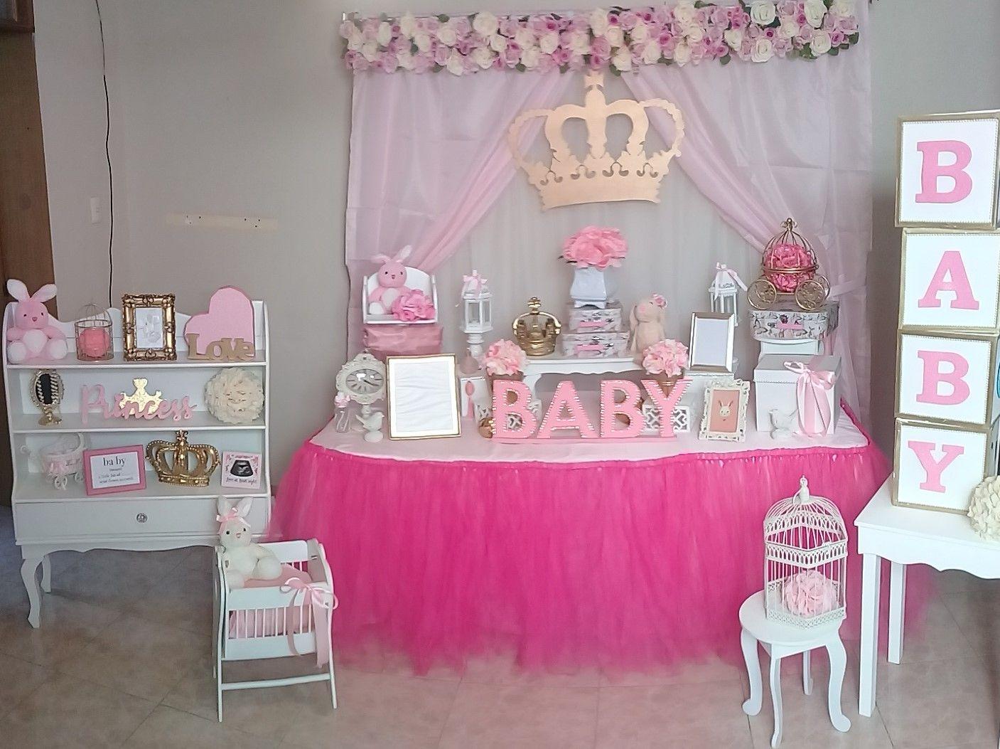 Mesa Baby Shower Nina.Mesa De Ambientacion Baby Shower Nina Tema Conejitas
