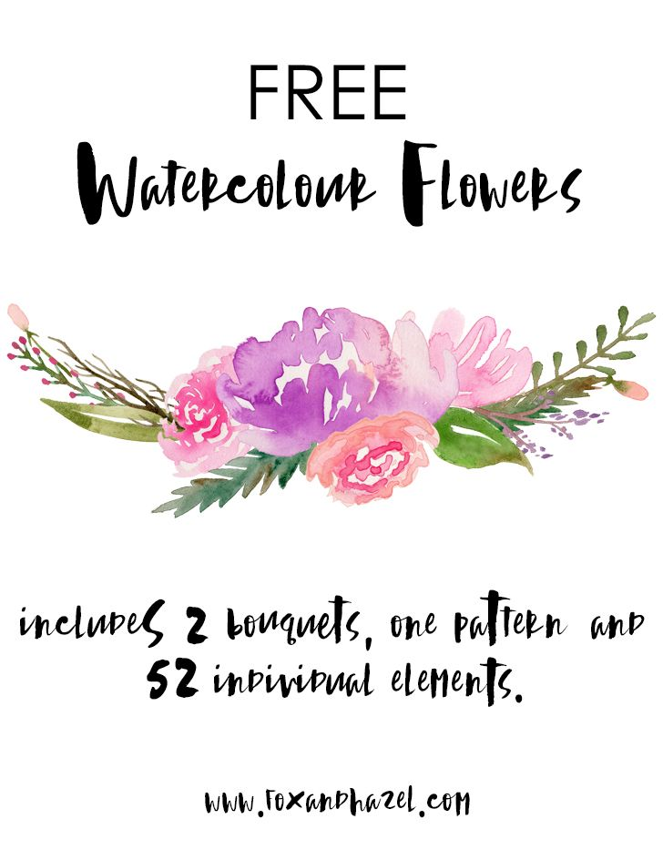 Free Watercolor Flower Graphics From Printables Free Watercolor