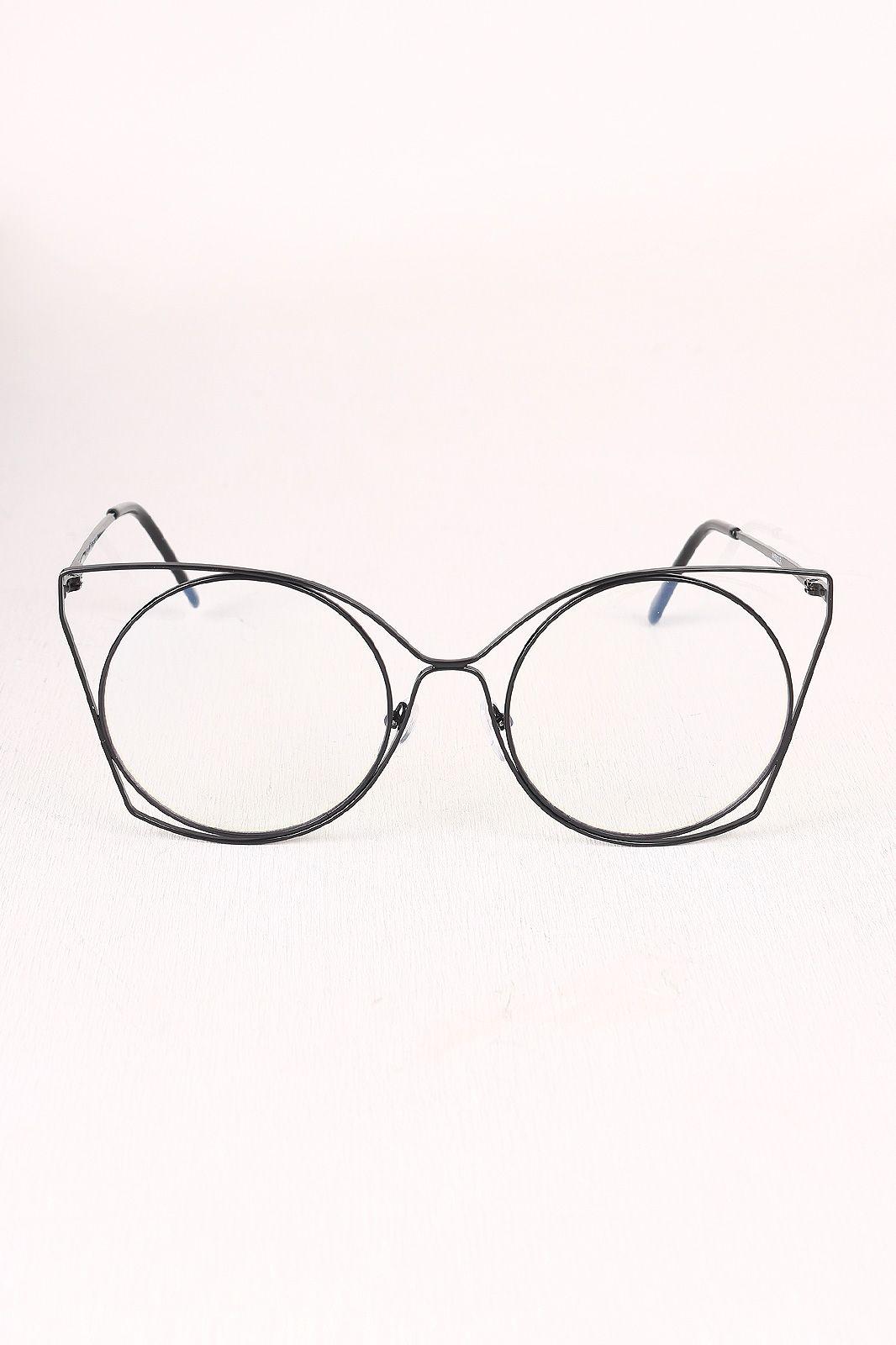 FREE SH & Easy Returns! Shop Oversized Clear Lens Framed Glasses ...