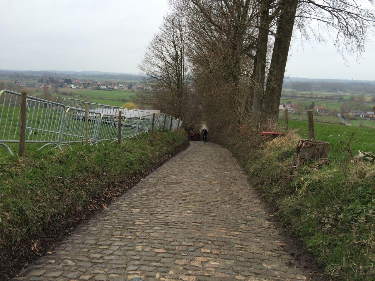 It was muddy on the Koppenberg Today. #rvv #tof #flanders #vlaanderen