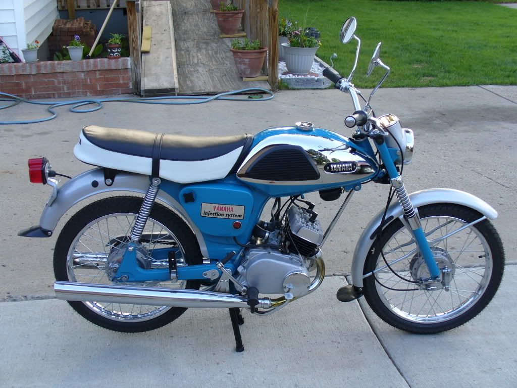 Image result for 1967 yamaha 100 twin motorcycle
